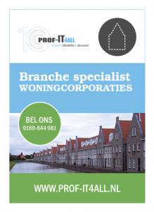 Flyer Prof-IT4all voor Woningcorporaties